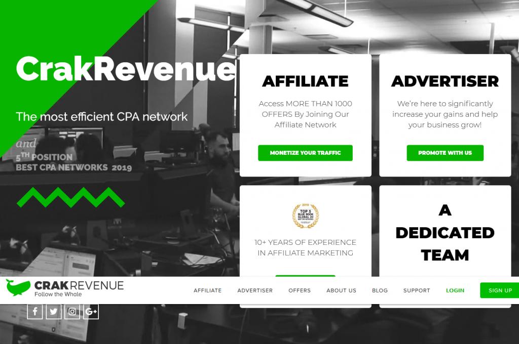 CrakRevenue Web Site